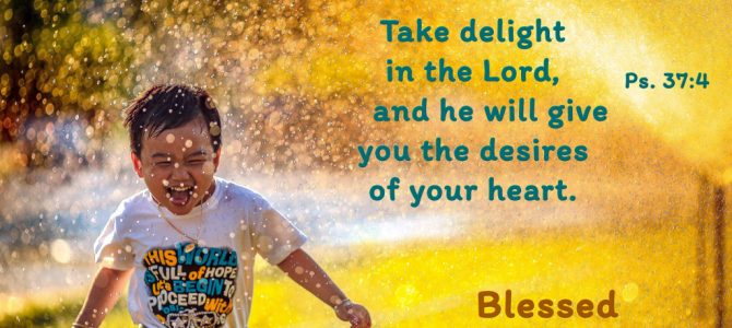 Take delight in the Lord, and he will give you the desires of your heart.