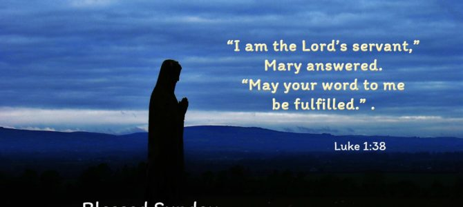 """""""I am the Lord's servant,"""" Mary answered. """"May your word to me be fulfilled."""" ."""