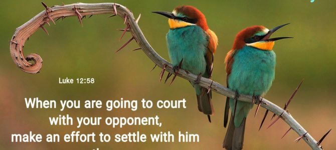 Reconcile with your opponent on the way (BL)