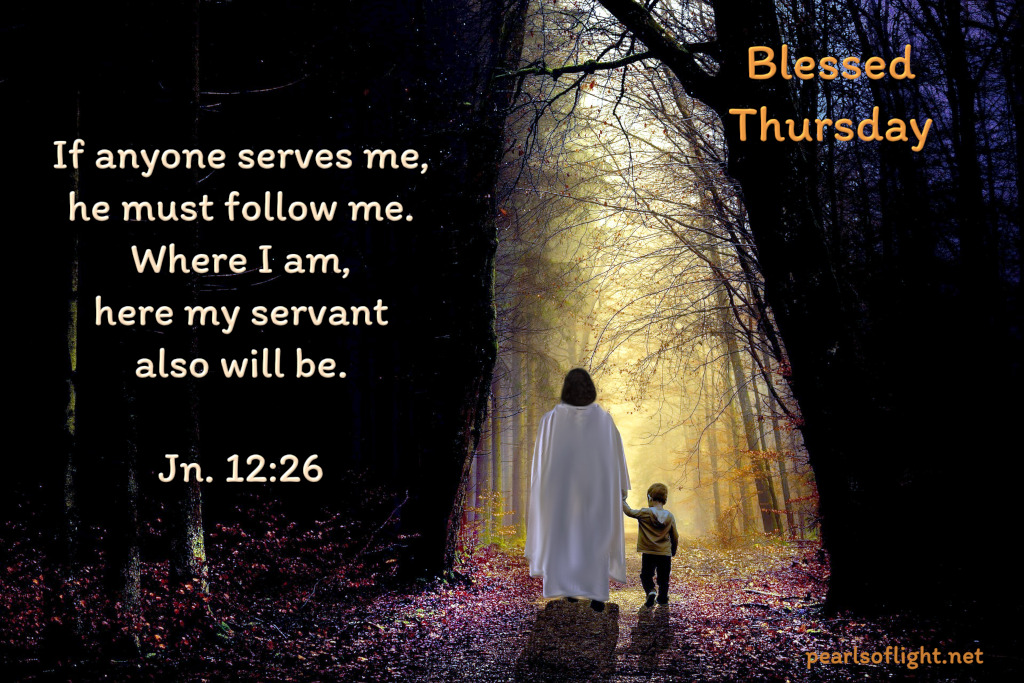 If anyone serves me, he must follow me. Where I am, here my servant also will be.
