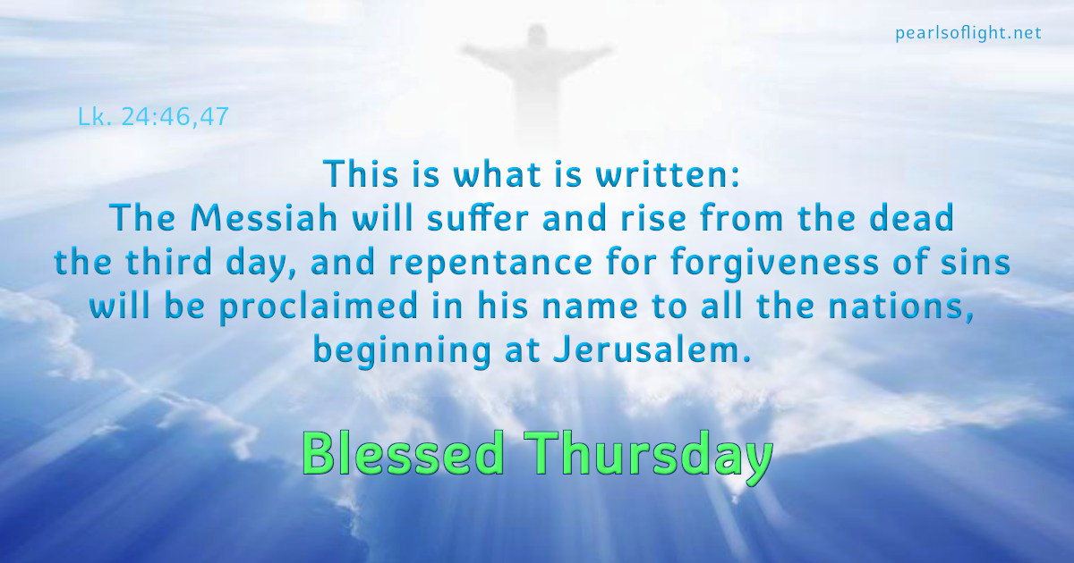 This is what is written: The Messiah will suffer and rise from the dead the third day..