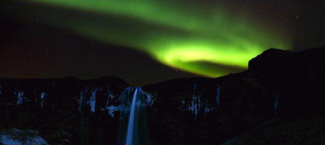 Seljaland , islandzki wodospad