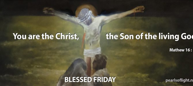 You are the Christ, the Son of the living God.
