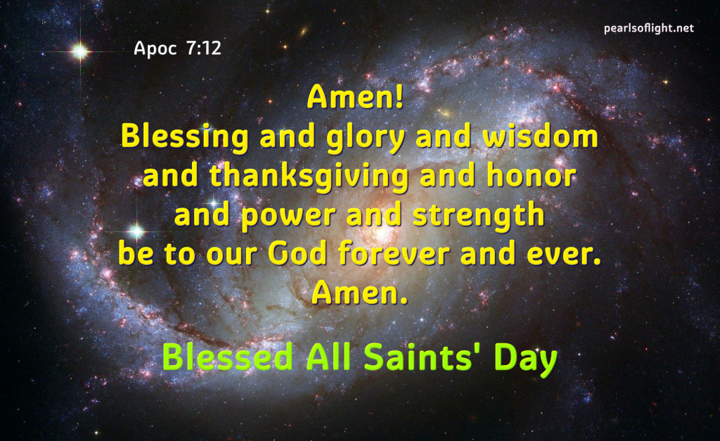 Amen!Blessing and glory and wisdom and thanksgiving and honor…